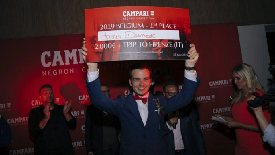 Wineblend - Hannes Desmedt - Sommelier - Campari Negroni Competition 2019